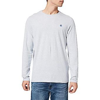Springfield Camiseta Manga Wide Textura T-Shirt, Medium Blue, M Men's