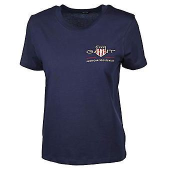 GANT Archive Shield SS T-Shirt, Blu-Evening Blue, XXL Women