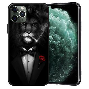 iPhone 12, 12 Pro &Max shell lion en esmoquin fumando cigarrillo