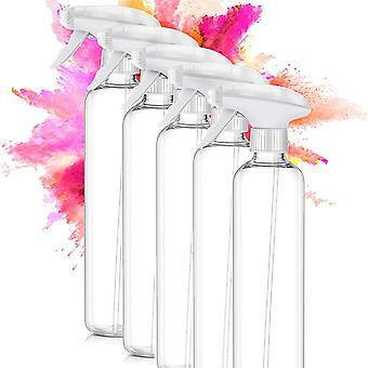 FengChun 5 Stk 500ml PET Sprühflasche- Nachfüllbare Leere Sprühflasche für Haushalt und