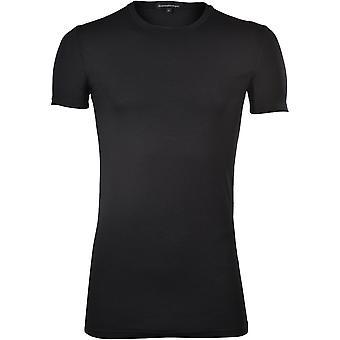 Ermenegildo Zegna Micromodal Stretch Crew-Neck T-Shirt, Svart