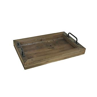 Rustic Reclaimed Wood Serving Tray Country Kitchen Platter Counter Top Decor