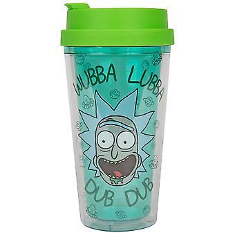 Rick og Morty Wubba Lubba 16oz Dobbel Vegg Plast Reise Krus