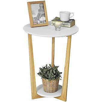 SoBuy Home Wood Sofa Side Table,White,FBT52-WN