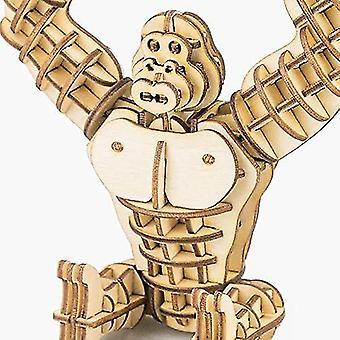 Construa seu próprio 3d quebra-cabeça de madeira modelo gorila decoração de decoração de presentes dt6018
