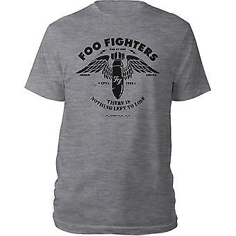 Foo Fighters - Camiseta Grande Stencil Unisex - Gris