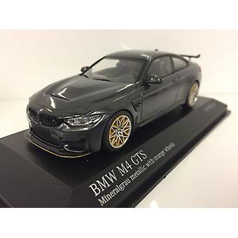 Minichamps 410025228 BMW M4 GTS 2016 Grey Metallic with Orange Wheels 1:43