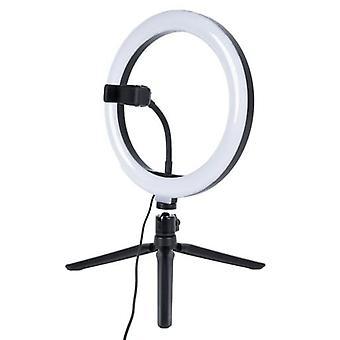 Ringlamp staand 26 cm + spiegelhouder + schakelaar – LED USB