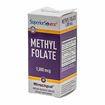 Superior Source Methly Folate, 1000 mcg, 60 Tabs