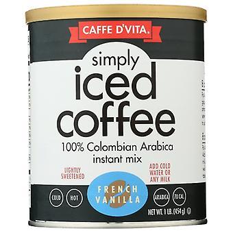 Caffe D Vita Mix Iced Coffee Frnch Van, Case of 6 X 16 Oz