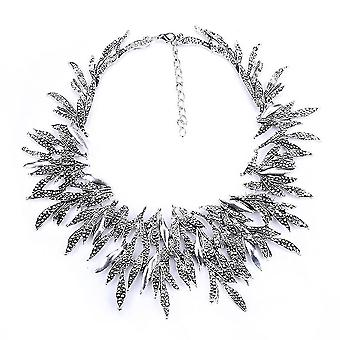 Short Women Necklace Electroplated Retro Alloy Clavicle Chain For Wedding