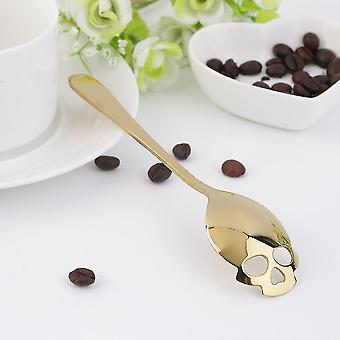 Skull Shaped Coffee Sugar Oatmeal Stirring Dessert Stainless Steel Spoon