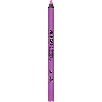 Barry M Hi Viz Neon Bold Waterproof Eyeliner Pencil - 5 Dangerous Purple
