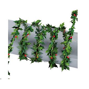 1.2m Mini Garland for Christmas Crafts and Decor - Holly and Berry