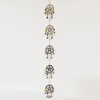 Pentagrm Brass Windchime 76cm