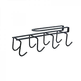 Kitchen Cup Rack Free Perforated Water Cup Rack(Black)