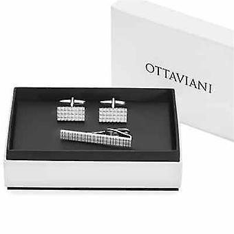 Ottaviani jewels cufflinks & tie pin - gift box 54237