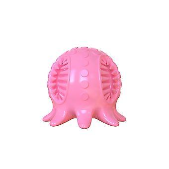 Hunde legetøj bold tænder rengøring blæksprutte form (Pink)