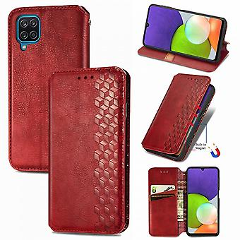 Case For Samsung Galaxy A22 4g Flip Cover Wallet Flip Cover Wallet Magnetic Protective Handytasche Case Etui - Red