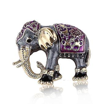 Aranyos hölgyek bross elefánt fűző festett zománc bross pin