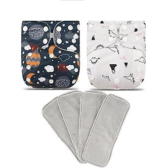 Elinfant New Pattern Washable Suede Cloth Inner Diaper Baby