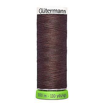 Gutermann 100% genanvendt polyester sy-alle tråd 100m hånd og maskine - 446