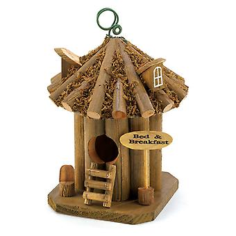 Songbird Valley Bed and Breakfast Wood Birdhouse, Pack of 1
