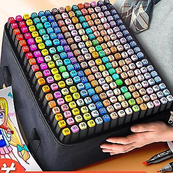 Belita Amy 60 Color Marker Pens, Double-tip Art Sketch Marker Pens, Artists Use Protective Sleeves To Draw Sketches For Adult Coloring