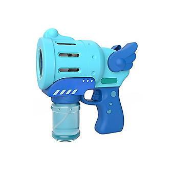 Bubble Machine Automatic Indoor Outdoor Bubble Machine Maker Gun Form Aufregende Blase (Blau)