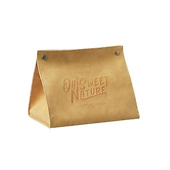 Facial tissue holders pu leather tissue storage box toilet home living room desktop napkin papers bag holder case