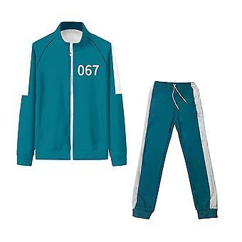 Squid Game Jacket Li Zhengjae Kabát pre mužov Rovnaké športové oblečenie