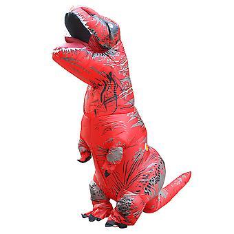 Red Adult Tyrannosaurus Rex Inflatable Costume Adult Dinosaur Costume