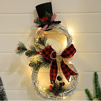 Christmas Vine Ring Garland Pendant Led Lights