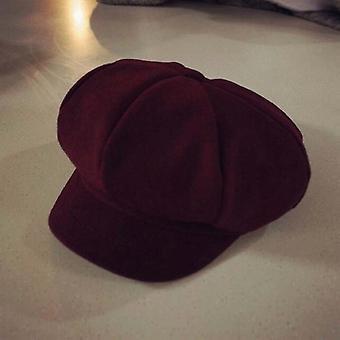 Czapki z kapelusza zimowego Beret Baby Toddler Kids (czerwony)