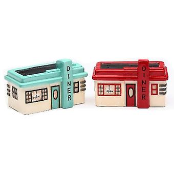 Road Trip Retro 1950s Look Diners Salt and Pepper Shakers Set
