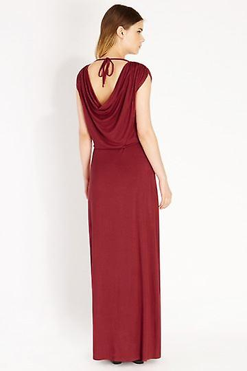 Oasis Red Cowl Back Maxi Dress UK XS