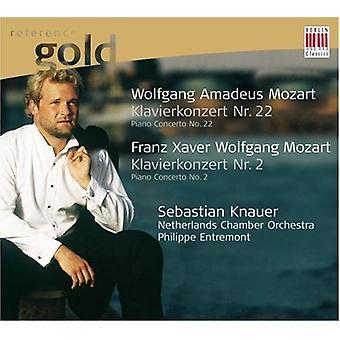W.a. Mozart - Wolfgang Amadeus Mozart: Klavierkonzert Nr. 22; Franz Xaver Wolfgang Mozart: Klavierkonzert Nr. 2 [CD] USA importieren