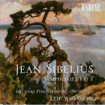 J. Sibelius - Sibelius: Symphonies Nos. 1 & 7 [CD] USA import