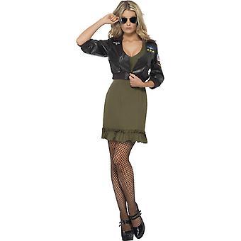 Saia e a jaqueta Top Gun de licença original top gun traje senhoras