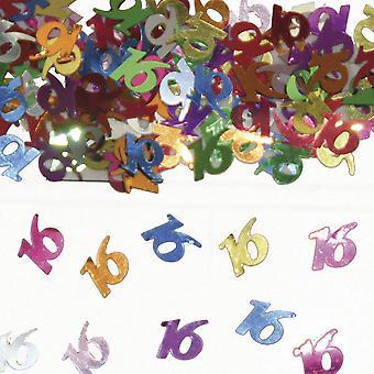 Tabel konfetti nummer 16 Deco konfetti fødselsdagsfest