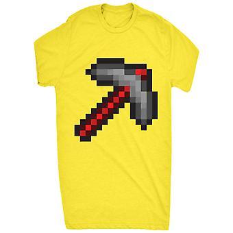 Pixel Retro Pick Axe 8 Bit Rojo Para Hombres