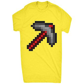 Pixel retro poimia kirves 8 bittinen punainen miehille
