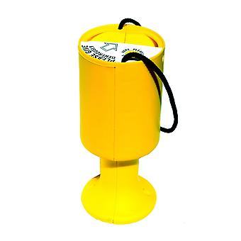 Round Charity Money Collection Box - Yellow