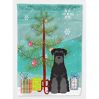 Merry Christmas Tree Standard Schnauzer Black Flag Canvas House Size