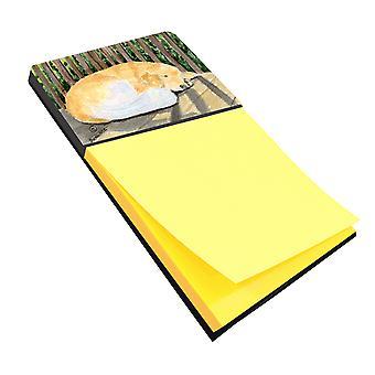 Золотой ретривер Refiillable записки владельца или Postit Примечание распылитель