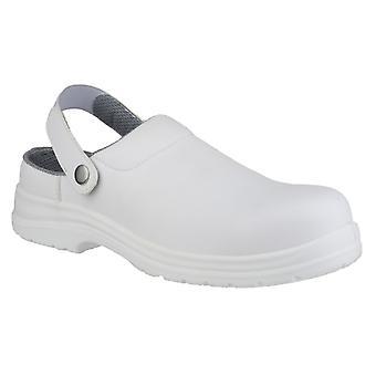 Amblers FS512 Unisex White Clog Safety Shoes