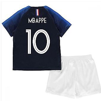 2018-2019 فرنسا المنزل نايكي ميني كيت (مبابي 10)