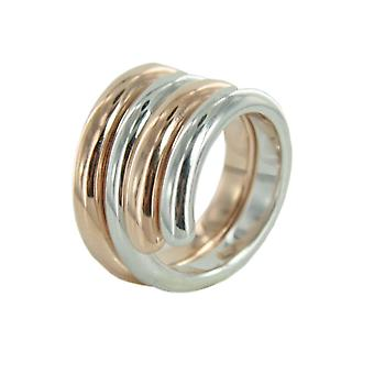 Esprit Swiveled Damen Silber Ring Bicolor ESSE90969B