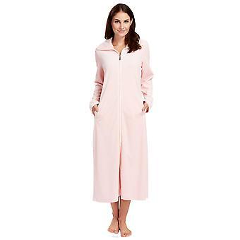 Féraud 3883036-10013 Kvinner's Fersken Rosa Bomull Kappe Loungewear Bad Kjole