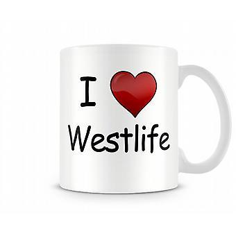 Я люблю Westlife печатных кружка